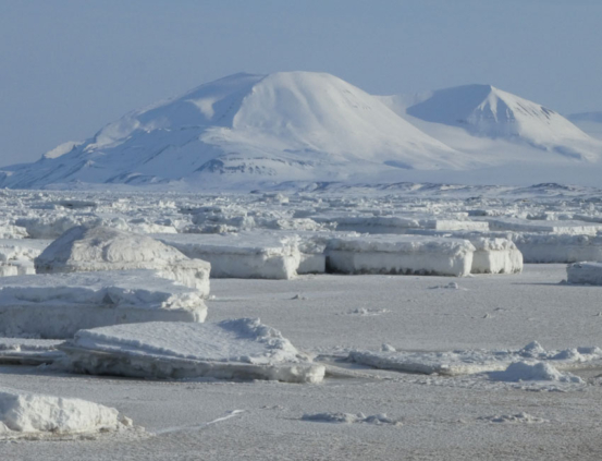 Sea ice in Svalbard.